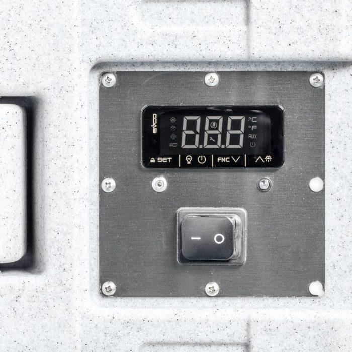 Contenitore refrigerato da 330 litri, dettaglio pannello